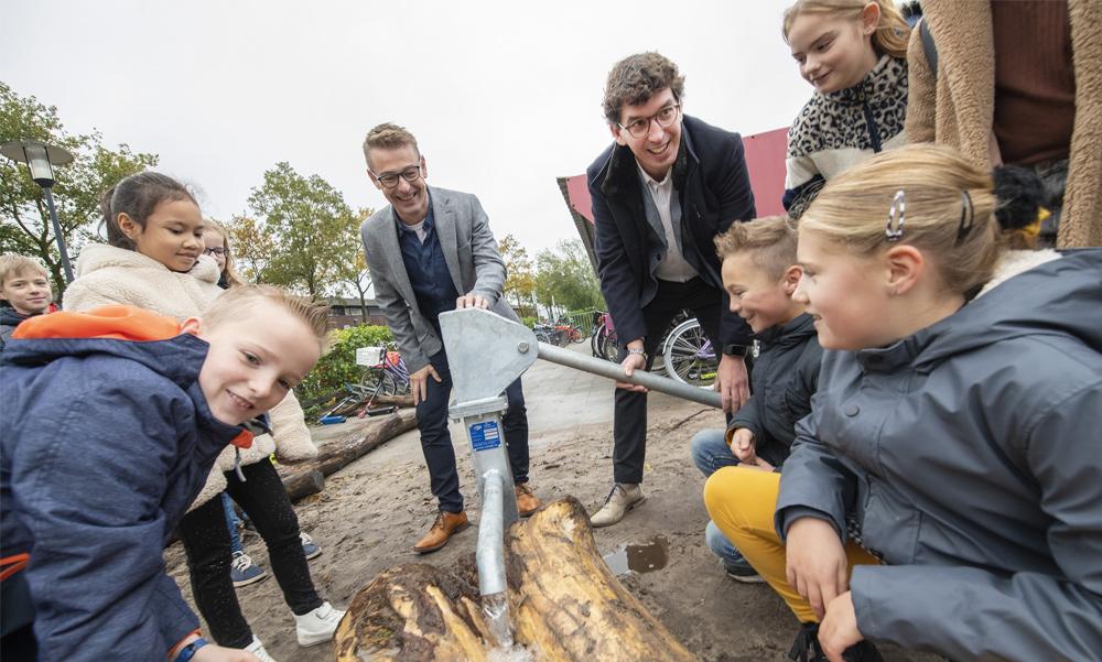 Geld voor groene schoolpleinen in gemeente Apeldoorn