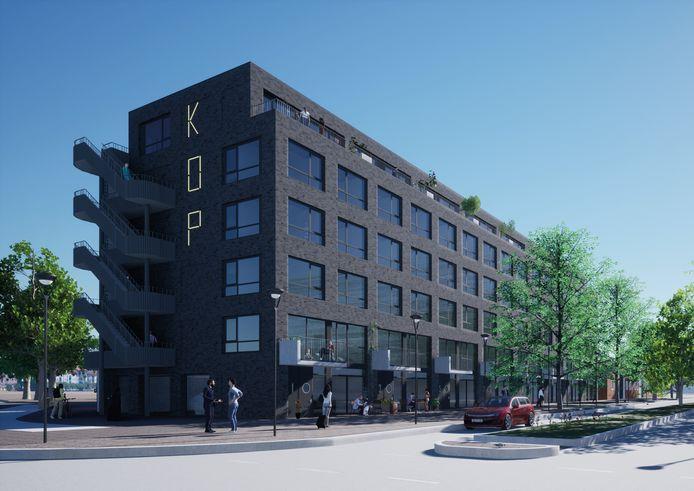 Kop Havenkwartier met veel sociale woningbouw