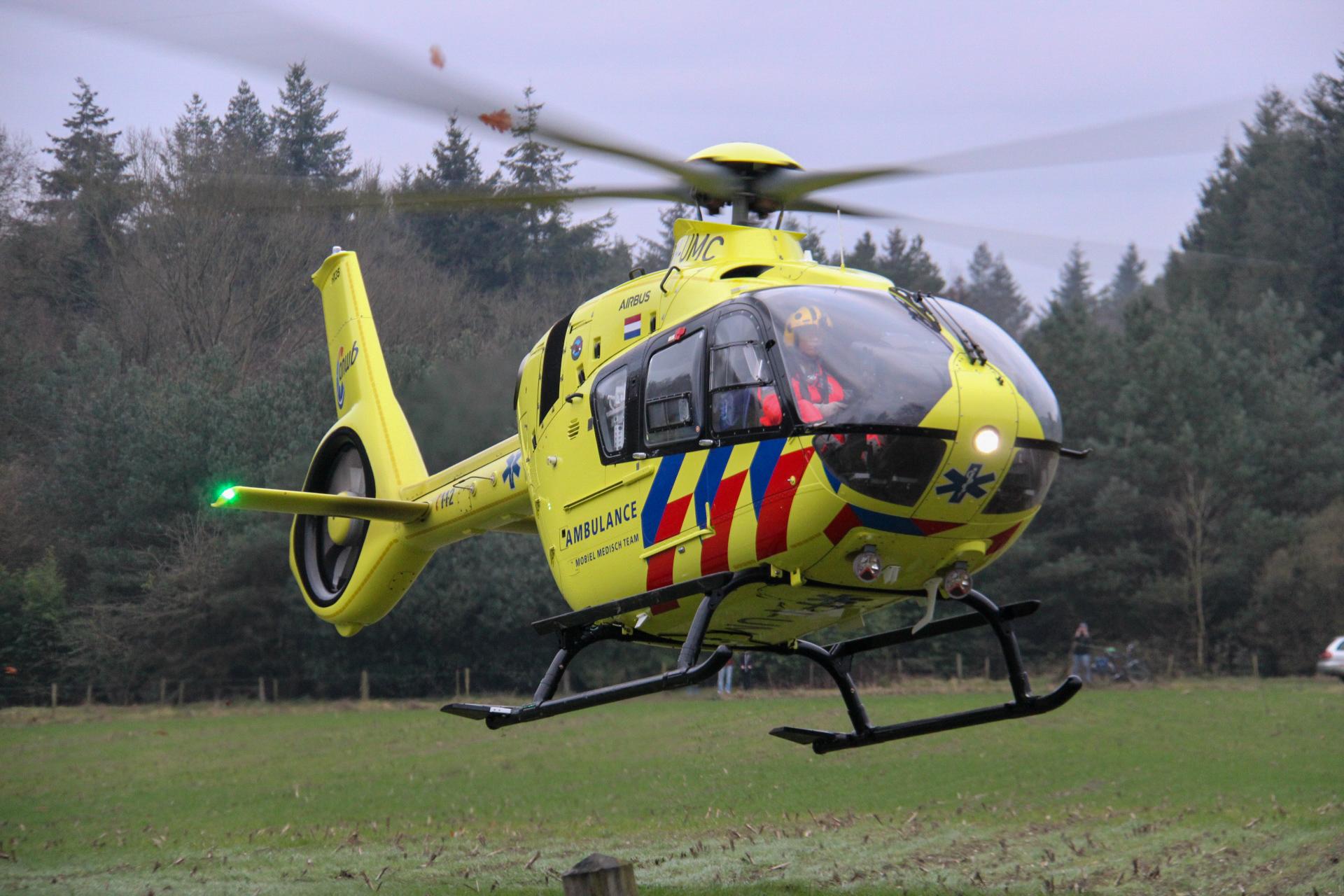 Ernstig ongeluk in Zutphen; traumahelikopter opgeroepen.