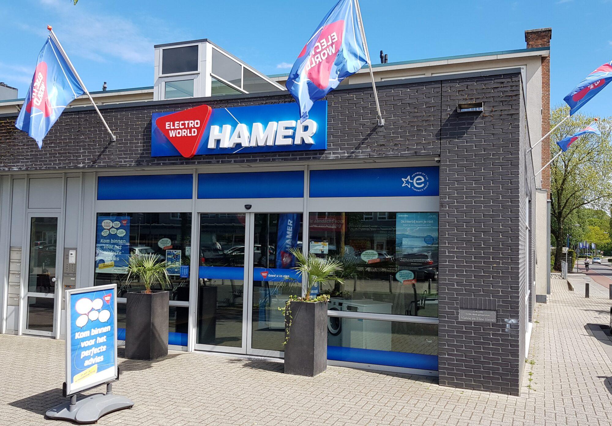 Electro World Hamer groeit, verbouwt en sluit één vestiging