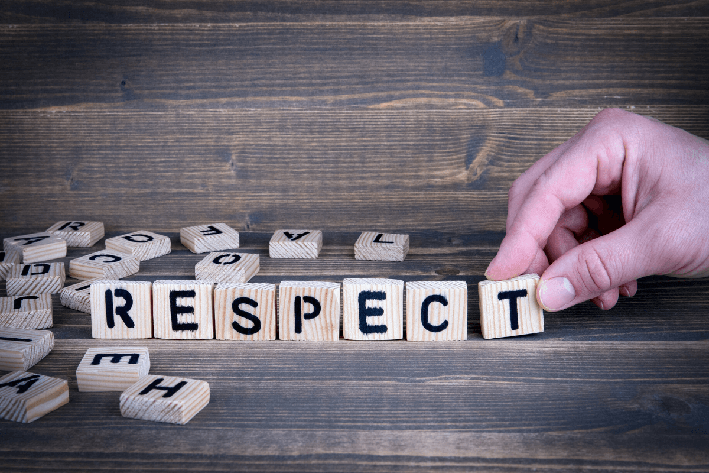 Van respect iets normaals maken!