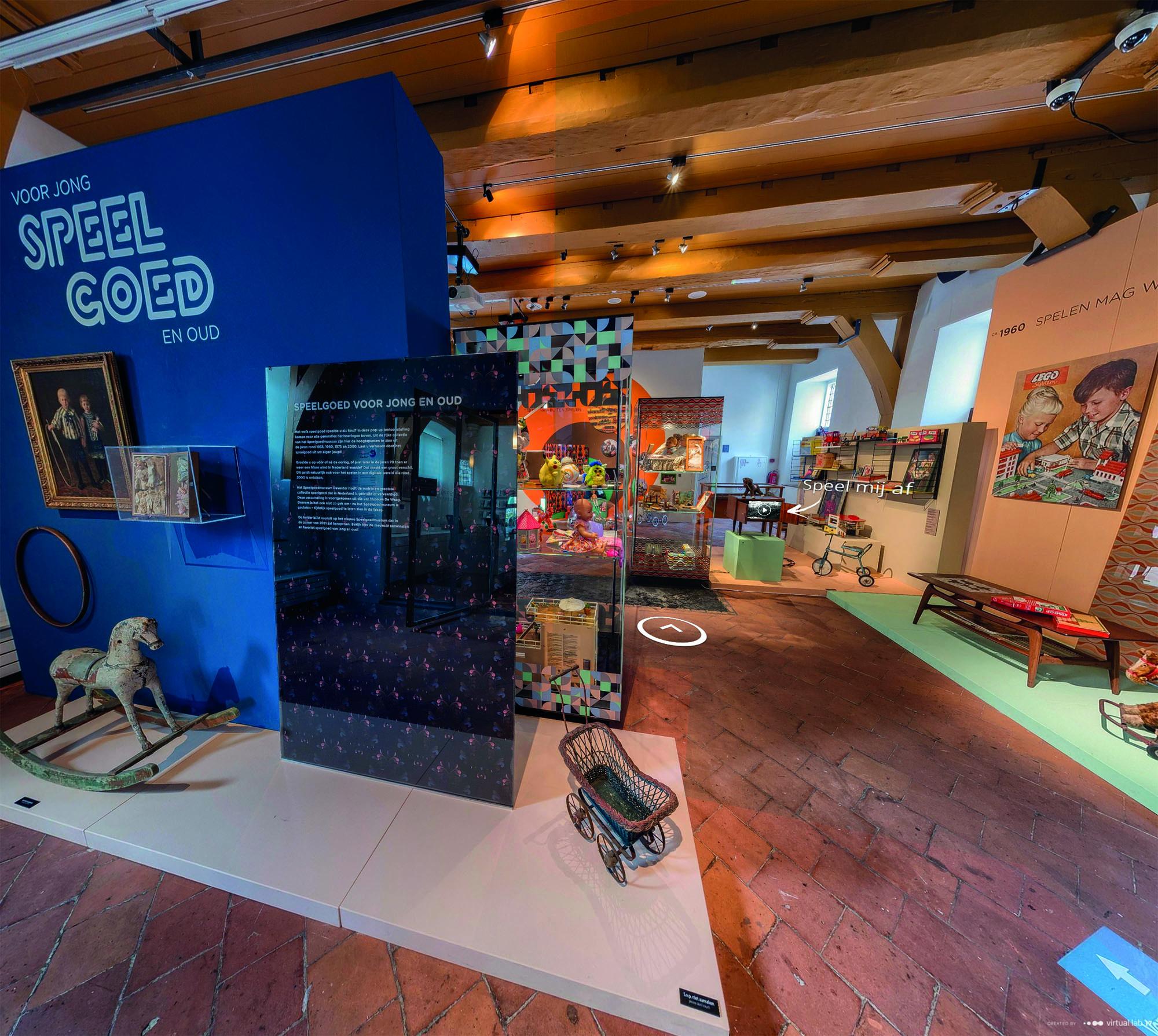 Virtuele tour langs tijdelijke tentoonstelling 'Speelgoed voor jong en oud'