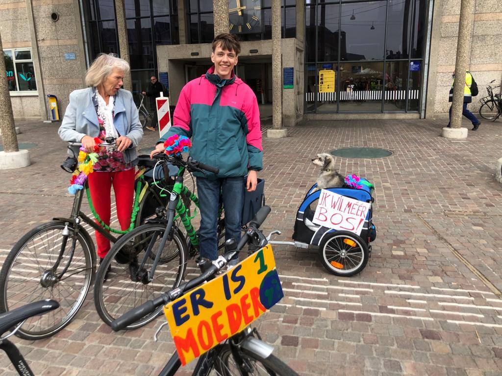 Klimaatprotestactie door de stedendriehoek
