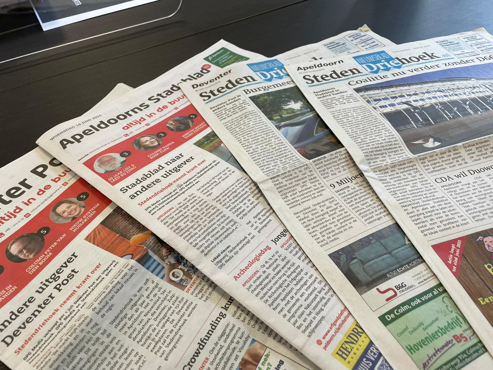Apeldoorns Stadsblad en Deventer Post in andere handen