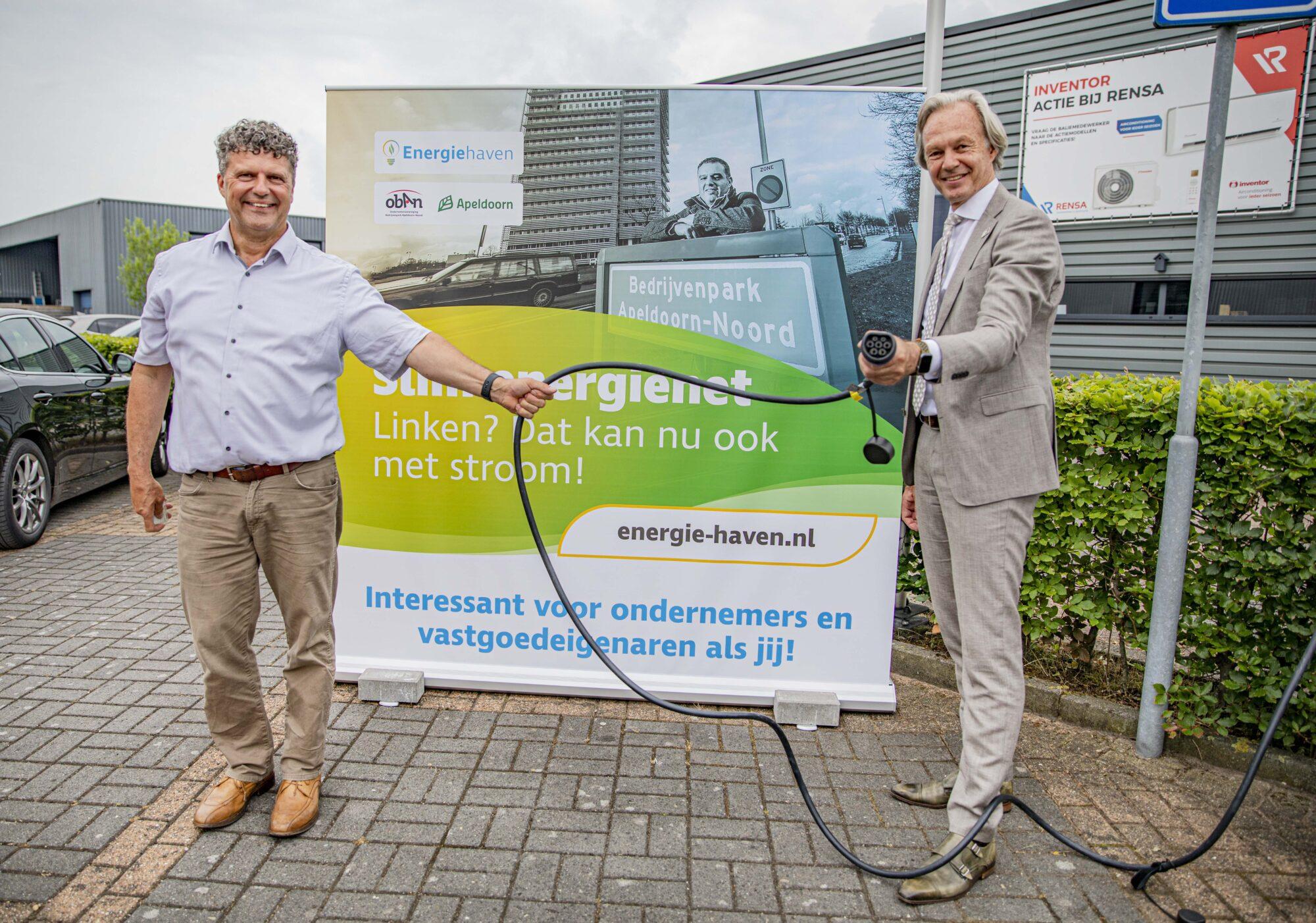 Slim energienet op bedrijvenpark Apeldoorn-Noord geopend