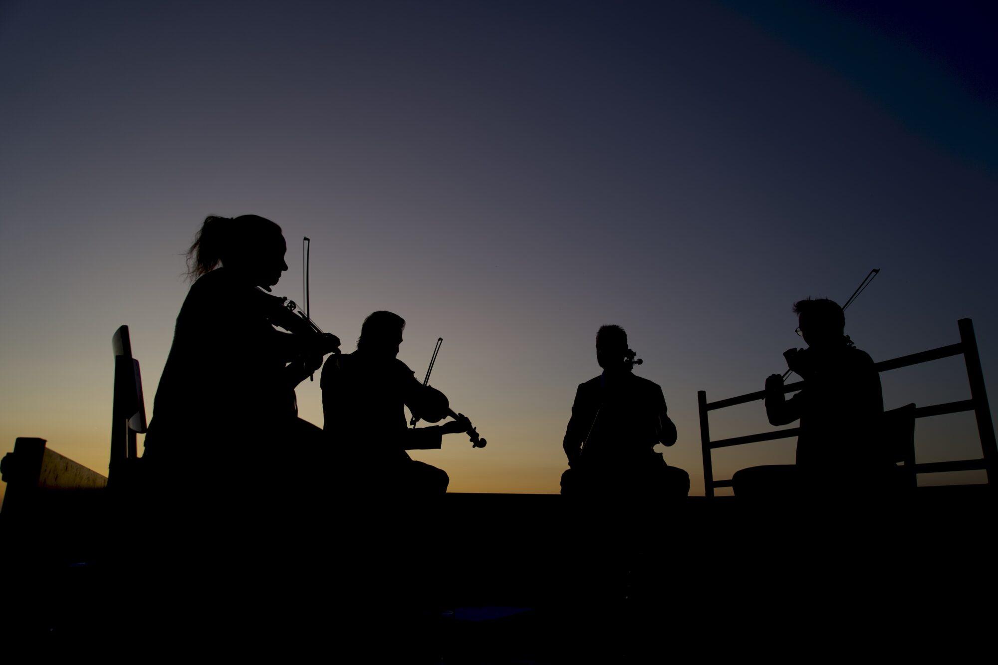 Fraaie muziek bij zonsondergang in Zutphen