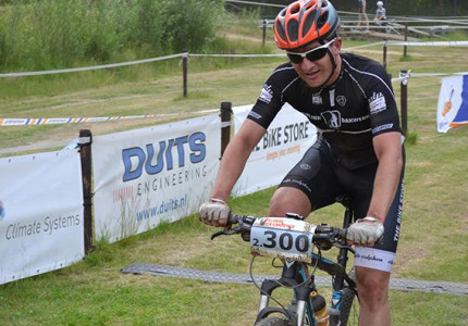 Veluwse mountainbikencompetitie start in Zutphen