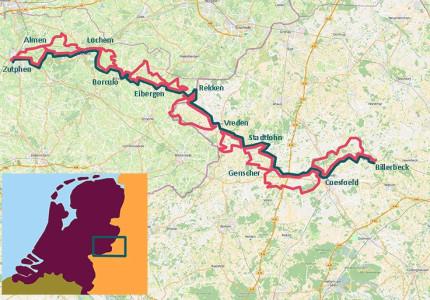 Agrarische landschappen en oude, gezellige stadjes tijdens fietstocht