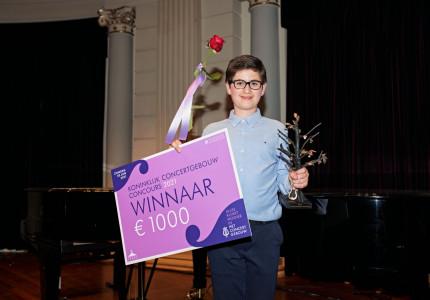 Adam Akopian (12) winnaar Koninklijk Concertgebouw Concours: 'Je speelt geen muziek, jij bént muziek'