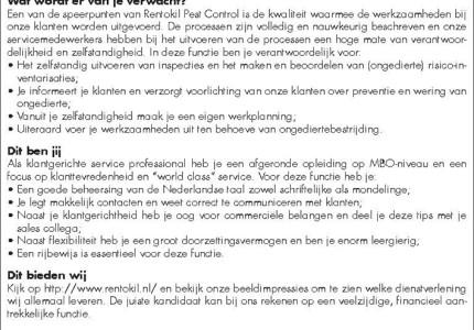 Service Medewerker (1fte)