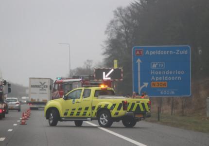 Meerdere autos botsen op de A1 bij Bathmen'