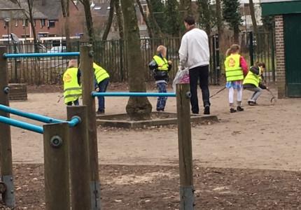 Leerlingen zetten zich innvoor een schonere stad