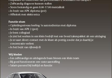 1e Autotechnicus ofLeerling 1e Autotechnicus