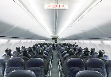 Onderzoek naar kans op corona aan boord van vliegtuigen