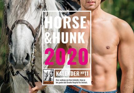 Sexy hunks en paarden op een kalender