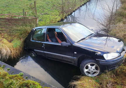 Auto in water beland