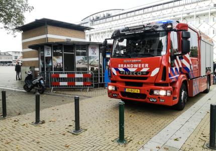 Brandweer rukt uit voor rokende auto in parkeergarage