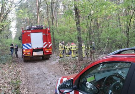 Vijftiende gemelde bosbrand in de regio Apeldoorn in twee weken tijd