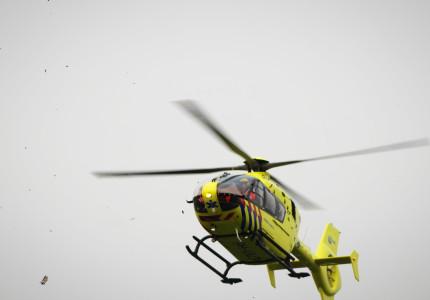 Traumahelikopter opgeroepen voor gewonde motorrijder in Bathmen