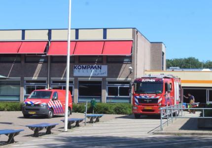 Kompaan College in Zutphen ontruimd wegens brand