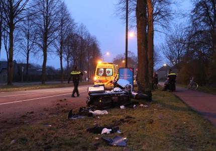 Motorrijder gewond bij ongeval in Apeldoorn