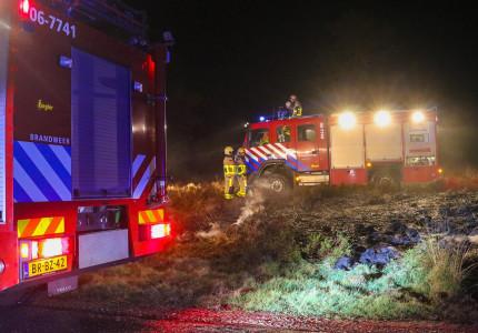 Afgelopen nacht drie heidebranden in de omgeving Apeldoorn