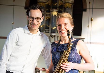 Mooi samenspel orgel en saxofoon