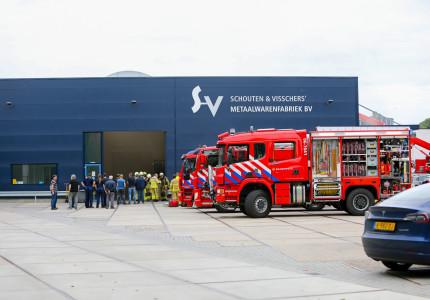 Fabriek in Epe ontruimd wegens brand