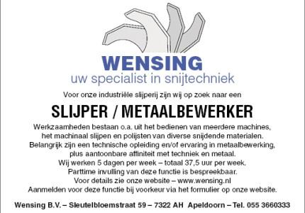 SLIJPER / METAALBEWERKER