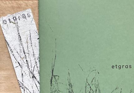 Kunstenares en dichter brengen bijzonder boek 'Etgras' uit