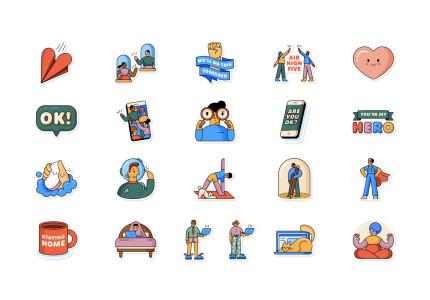 Whatsapp en WHO brengen social distancing stickers uit