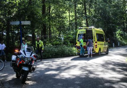Botsing tussen fietsers in Beekbergen