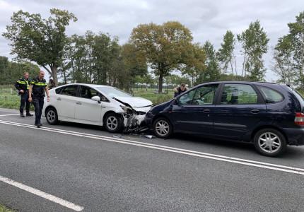 Ongeval tussen drie voertuigen op het Kanaal Zuid