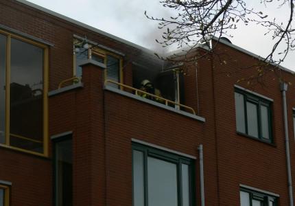 Brand in bovenwoning