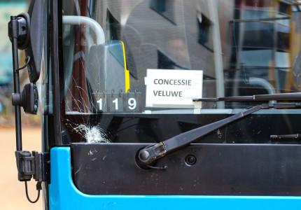 Bus komt in botsing met fietser
