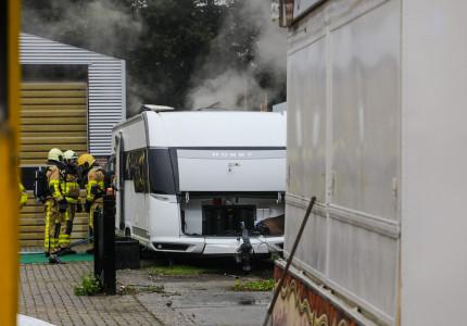 Caravan uitgebrand in Apeldoorn Zuid