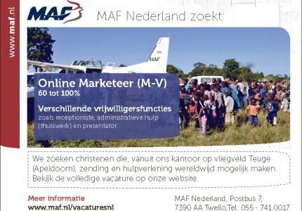 MAF Nederland zoekt: