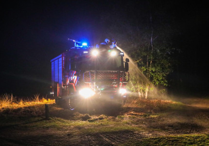 Stuk heide gaat in vlammen op te Vaassen; brandstichting niet uitgesloten