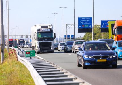 Ongeval A1 tussen Apeldoorn en Deventer zorgt voor half uur vertraging