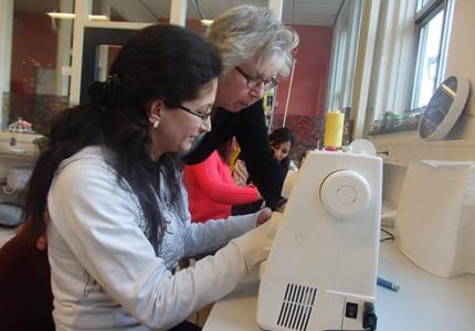 Vrijwilligerswerk in leerwerkbedrijf nnvoor migrantenvrouwen