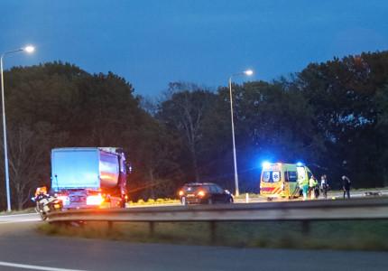 Scooterrijder gearresteerd na ongeval op snelweg richting Zwolle