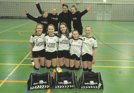 Krant steunt  volleybalsters