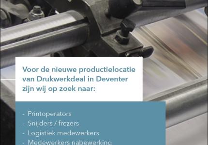 Diverse functies bij Drukwerkdeal.nl'
