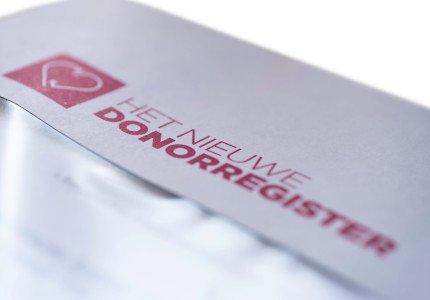 Alle volwassenen in Gelderland staan in het Donorregister