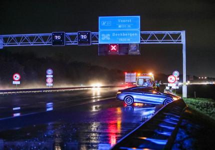 Geen gewonden bij aanrijding op A1 ter hoogte van Lieren