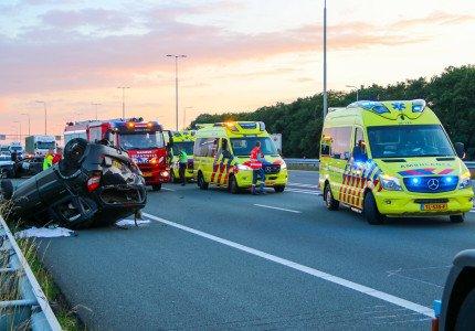 Gewonden bij ernstig ongeluk op A1 bij Apeldoorn
