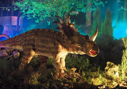 Durf jij naar de grote dino's in het donker tijdens de herfstvakantie?