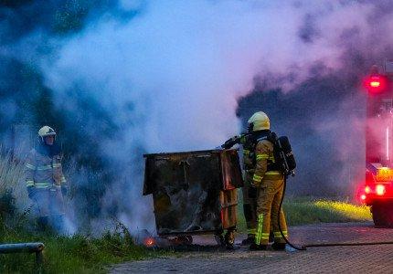 Opnieuw brandstichting in Zutphen; ditmaal twee containers in brand