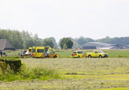 Parachutist zwaargewond bij val in Teuge