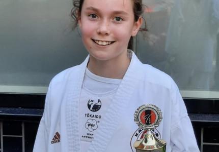 Nerena de Boer (11) behaalt podiumplek bij Hayashi Amsterdam Kumite Cup